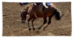 Rodeo Time Bucking Bronco 2 Beach Sheet