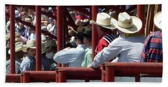 Rodeo Time Cowboys Beach Sheet by Susan Garren