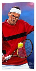 Roger Federer The Swiss Maestro Beach Towel