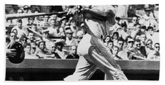 Roger Maris Hits 52nd Home Run Beach Towel
