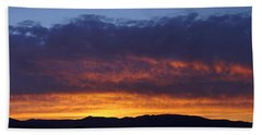 Rogue Valley Sunset Panoramic Beach Towel by Mick Anderson
