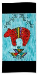 Beach Towel featuring the painting Rojo Oso by Susie WEBER