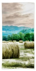Rolled Bales Beach Towel by Mick Anderson
