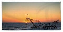 Roller Coaster Sunrise Beach Towel