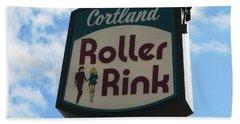 Roller Rink Beach Sheet by Michael Krek