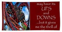 Rollercoaster Valentine Beach Sheet