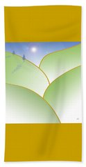 Rolling Hills - When The Skies Are Blue Beach Towel