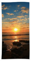 Rolling Over Rocks Beach Towel by Catie Canetti