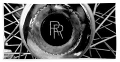 Rolls Royce - Black And White Beach Towel