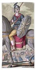 Roman Cavalryman Of The State Army Beach Towel
