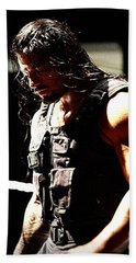 Roman Reigns Beach Sheet by Paul  Wilford