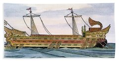 Roman Trireme Beach Sheet by Granger