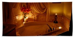 Romantic Bubble Bath Beach Sheet by Kay Novy