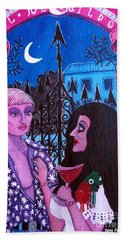 Beach Towel featuring the painting Romantic Couple by Don Pedro De Gracia