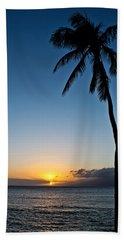 Beach Towel featuring the photograph Romantic Maui Sunset by Joann Copeland-Paul