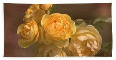 Romantic Roses Beach Towel by Joy Watson