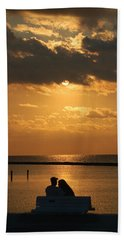 Romantic Sunrise Beach Towel by Leticia Latocki