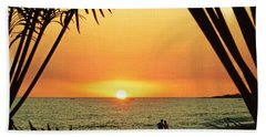 Romantic Sunset Beach Towel