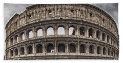 Rome Colosseum 02 Beach Towel by Antony McAulay