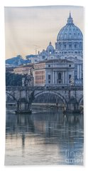 Rome Saint Peters Basilica 02 Beach Towel by Antony McAulay
