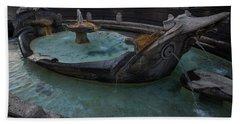 Rome's Fabulous Fountains - Fontana Della Barcaccia At The Spanish Steps  Beach Sheet