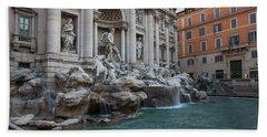 Rome's Fabulous Fountains - Trevi Fountain No Tourists Beach Sheet