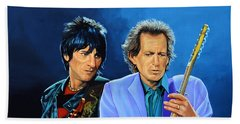 Ron Wood And Keith Richards Beach Towel by Paul Meijering
