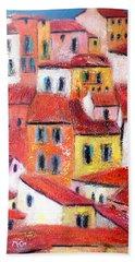 Rooftops Collioure Beach Towel