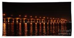Beach Sheet featuring the photograph Roosevelt Bridge Panorama by Olga Hamilton