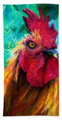 Rooster Colorful Expressions Beach Sheet