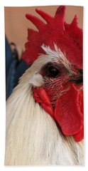 Rooster Face Beach Towel