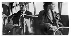 Rosa Parks On Bus Beach Sheet