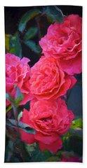 Rose 138 Beach Sheet by Pamela Cooper