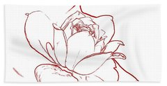 Rose 2 Beach Towel