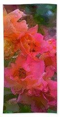 Rose 219 Beach Sheet by Pamela Cooper