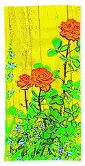 Rose 9 Beach Sheet by Pamela Cooper