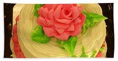 Rose Cakes Beach Towel