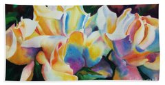 Rose Cluster Half Beach Towel