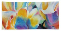 Beach Towel featuring the painting Rose Cluster Half by Kathy Braud