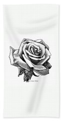 Rose Created For Canvas Comforts Beach Towel