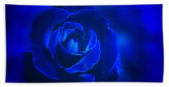 Rose In Blue Beach Sheet