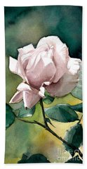 Watercolor Of A Lilac Rose  Beach Sheet