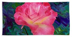 Rose In The Matter Of Your Hand V7 Beach Sheet