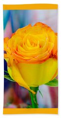 Yellow Rose Macro Beach Towel