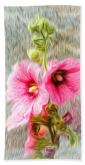 Rose Of The North Abstract. Beach Towel by Ian Gledhill