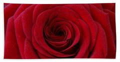 Beach Towel featuring the photograph Rose Red by Shawn Marlow