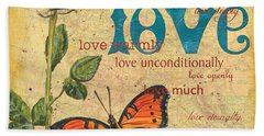 Roses And Butterflies 2 Beach Towel