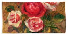 Roses In A Pot Beach Towel