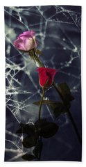 Roses With Coweb Beach Towel
