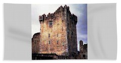 Beach Towel featuring the photograph Ross Castle Kilarney Ireland by Angela Davies